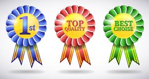 Award vector medals Stock Images