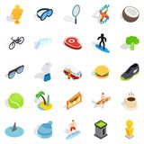 Award for victory icons set, isometric style. Award for victory icons set. Isometric set of 25 award for victory vector icons for web isolated on white Royalty Free Stock Photo