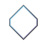 Award vintage rhomb frame with clear copy space made as art meda Stock Images