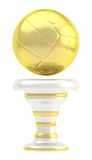 Award volleyball sport trophy cup. Award volleyball sport golden trophy cup isolated over white background Stock Photos