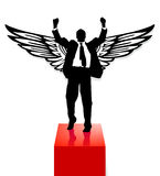 Award and wing Royalty Free Stock Photo