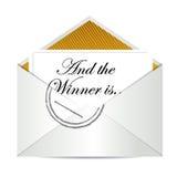 Award winner envelope concept. Illustration design over white stock illustration