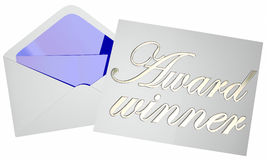 Award Winner Opening Envelope Competition Announcement Royalty Free Stock Image