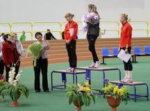Award winners in the women's 3,000 meters Royalty Free Stock Photo