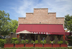 An award winning Bouchon restaurant in Yountville, Napa Valley Stock Photography