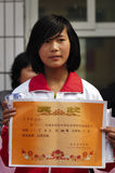Award-winning girl Stock Image