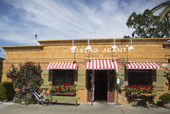 An award winning restaurant Bistro Jeanty in Yountville, Napa Valley Royalty Free Stock Image