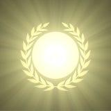 Winning Award badge with olive leaf Stock Images