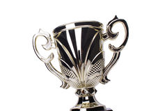 Award winning trophy. In white background royalty free stock photo