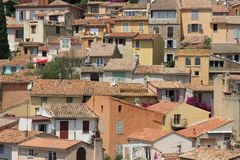 Award winning village Bormes-les-Mimosas in France Royalty Free Stock Images