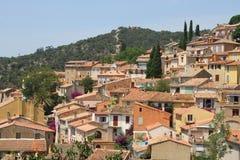 Award winning village Bormes-les-Mimosas in France Stock Photo