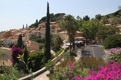 Award winning village Bormes-les-Mimosas in France Royalty Free Stock Photo