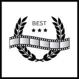 Award wreaths, laurel victory. Award film concept Stock Photography