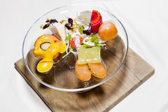 Awarded tasty decorated food dessert salads Stock Photography