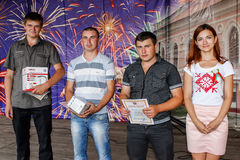 Awarding of the best employees in celebration of independence Day of the Republic of Belarus in the Gomel region July 3, 2016. Royalty Free Stock Photos