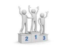 Awarding ceremony, winners on pedestal Stock Images