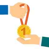 Awarding of medal Royalty Free Stock Images
