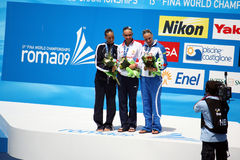Awarding solo synchro 13 fina world championship Stock Photo