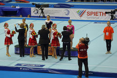 Awarding of winners Balance Beam Stock Photos