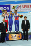 Awarding of winners in Parallel Bars Stock Images