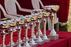 Awards. Some awards on a table Royalty Free Stock Photos