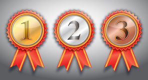 Awards. 1st,2nd,3rd awards  ribbon Royalty Free Stock Photo
