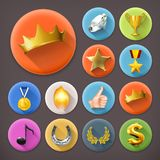Awards and achievement, icon set Royalty Free Stock Photography