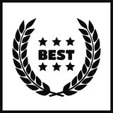 Awards for best. Black color film award wreaths isolated Stock Photos