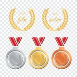 Awards for best film. Award nomination . Medal award for b. Est movie Royalty Free Stock Photography