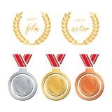 Awards for best film. Award nomination . Medal award for b. Est movie Stock Images