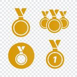 Awards for best film. Award nomination vector. Medal award for b. Est movie Royalty Free Stock Image