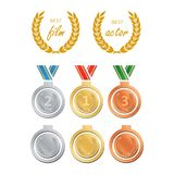 Awards for best film. Award nomination vector. Medal award for b. Est movie Stock Images