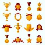 Awards Cartoon Set Royalty Free Stock Images