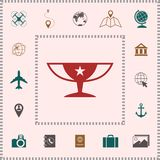 Awards Champions Cup icon with star. Element for your design royalty free illustration