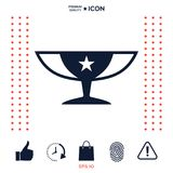 Awards Champions Cup icon with star. Element for your design . Signs and symbols - graphic elements for your design royalty free illustration