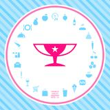 Awards Champions Cup icon with star. Element for your design . Signs and symbols - graphic elements for your design stock illustration
