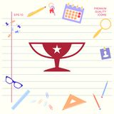 Awards Champions Cup icon with star. Element for your design stock illustration