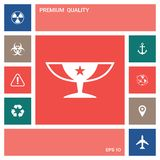 Awards Champions Cup icon with star . Elements for your design. Awards Champions Cup icon with star. Element for your design . Signs and symbols - graphic vector illustration