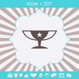 Awards Champions Cup icon with star. Graphic elements for your design. Awards Champions Cup icon with star. Element for your design vector illustration