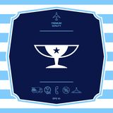 Awards Champions Cup icon with star. Graphic elements for your design. Awards Champions Cup icon with star. Element for your design stock illustration