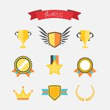Awards collection Royalty Free Stock Photography
