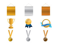Awards concept icon set illustration Stock Image