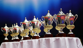 Awards and cups Royalty Free Stock Photography