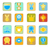Awards icon set Stock Photos