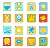 Awards icon set. Set of 16 awards icon Stock Photos