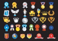 Awards icon set prize set Royalty Free Stock Image