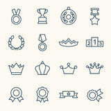 Awards icons. Awards  line icon set Royalty Free Stock Photo