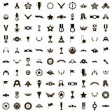 100 Awards icons set, simple style. 100 Awards icons set in simple style  on white background Royalty Free Stock Photos