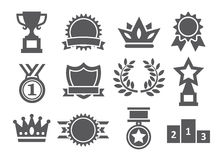 Awards icons Stock Photo