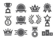 Awards icons Stock Photo